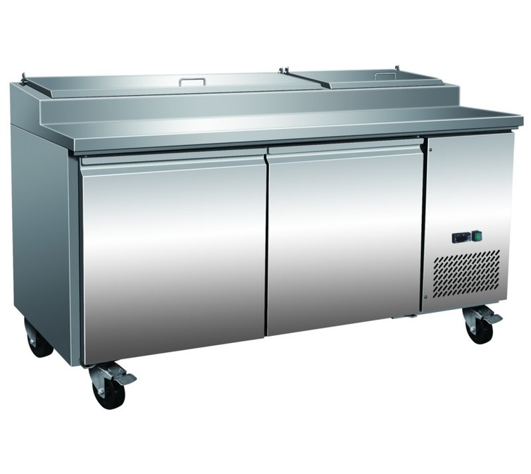 TPP2 Pizza Prep Chiller - 2 Doors - Stainless Steel - Integral Condenser