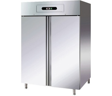GN1410TN Upright Double Door Chiller GN 2/1 - Stainless Steel - Integral Condenser